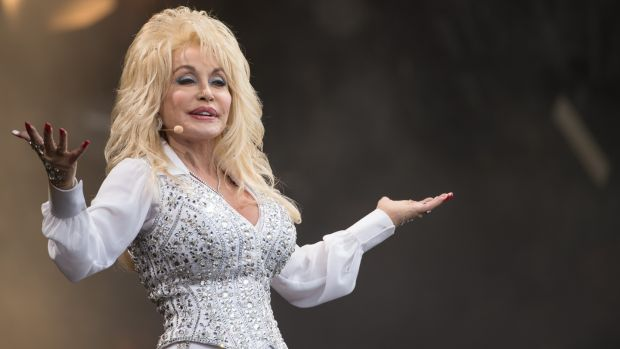 Dolly Parton looks at American's divided culture and politics. Photograph: Ian Gavan/Getty Images