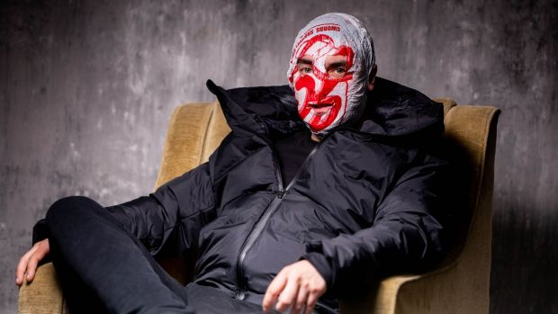Blindboy takes on tough issues in his surreal, irreverent and strangely comforting comedy podcast. Photograph: Alan Place