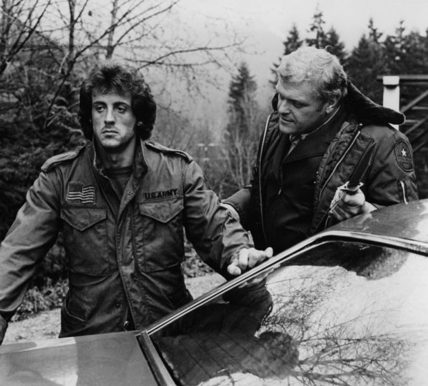 Brian Dennehy with Sylvester Stallone in First Blood, from 1982. Photograph: Orion/Getty