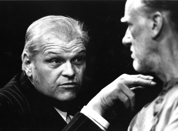 Brian Dennehy with Donald Moffat in the Abbey staging of The Iceman Cometh, in 1992. Photograph: Pat Langan
