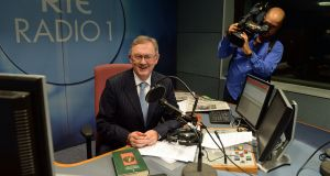 Formidable: Sean O'Rourke on his first day as presenter of RTÉ Radio 1's Today show, in 2013. Photograph: Frank Miller