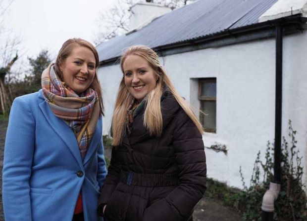 Leanne and her sister Vanessa on Cheap Irish Homes. Photograph: RTÉ
