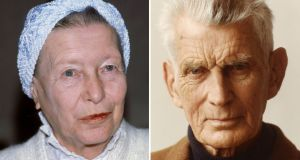 Biographies: Simone de Beauvoir and Samuel Beckett. Photographs: Francis Apesteguy/Getty and Jehle/Uullstein Bild via Getty