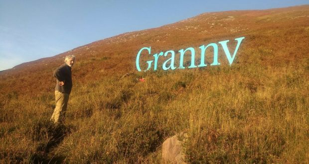 Cosmic Granny being installed by Micheál Fitzgerald in Kerry. Photograph: Laura Fitzgerald