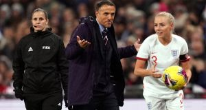 England Women's manager Phil Neville: a new manager will take the reins for the Euros, hosted by England, which have been delayed to 2022 due to coronavirus. Photograph: John Walton/PA Wire
