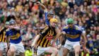 Tipperary's Paul Curran fouls Richie Power of Kilkenny to give away a penalty during last year's All-Ireland SHC Final at Croke Park. Photograph: Morgan Treacy/Inpho