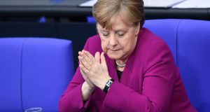 German chancellor Angela Merkel: warnmed against depending on hope as a principle. Photograph: REUTERS/Annegret Hilse