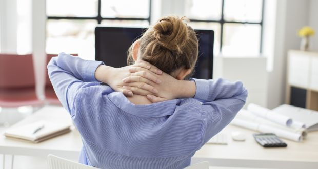 The chair should support your lower back, so the spine is in its natural S-shape. Photograph: iStock