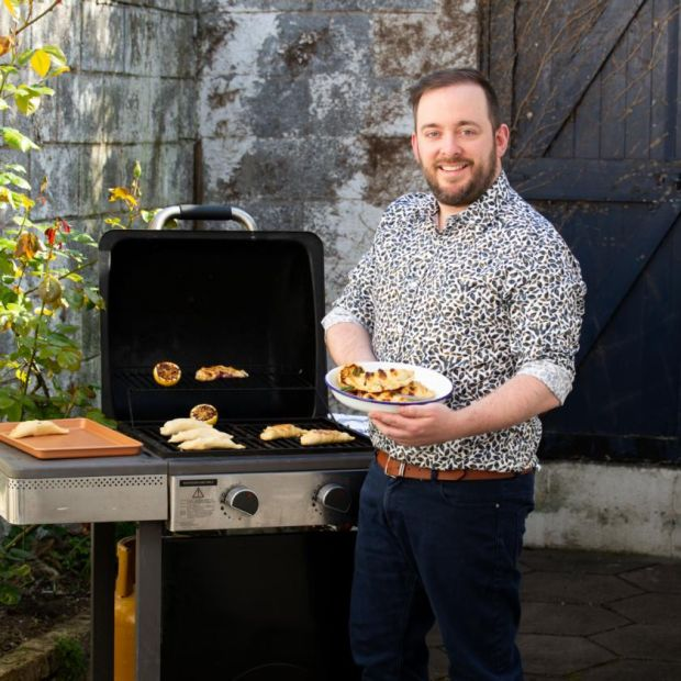 Pastry chef Shane Smith makes barbecued s'more parcels. Photograph: Tom Honan/The Irish Times