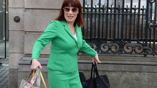 Minister for Culture, Heritage and the Gaeltacht Josepha Madigan arrives at Leinster House for a Dáil sitting on Thursday. Photograph: Dara Mac Dónaill