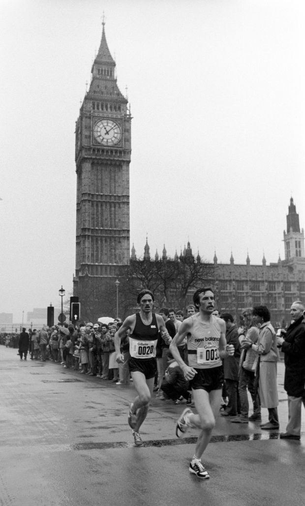 The first London Marathon, held on March 29th, 1981. Photograph: PA