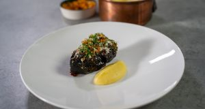 Mark Moriarty's braised beef cheek with potato mousseline.