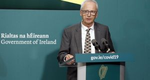 John Treacy speaking at Government Buildings on Friday at the launch of the #InThisTogether wellbeing initiative. Photograph:  Leon Farrell/Photocall Ireland/PA Wire