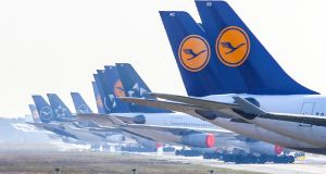Lufthansa expects  yields to be 10 per cent lower and the load factor on its aircraft to be 10 per cent lower. Photograph: EPA