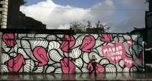 Graffiti art by Maser featuring the slogan 'Maser loves you' in 2008. Photograph: Dara Mac Dónaill