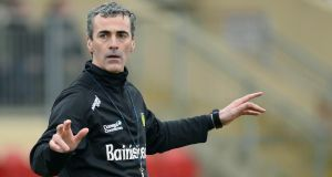 Jim McGuinness says his Donegal players bought into his methods fully once they realised the success they could achieve. Photograph: Russell Pritchard/Inpho/Presseye