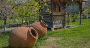 Traditional ceramic vessels for making wine in a village in Georgia. Photograph: iStock