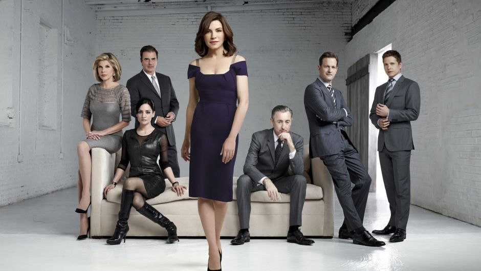 A farewell scene from The Good Wife  is being jokily recalled because of the inadvertent template it lends to the new game of filming drama under social distancing guidelines. Photograph: Justin Stephens/CBS Broadcasting Inc