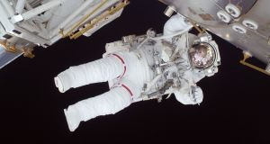 International Space Station: Nicole Stott on a spacewalk in 2009. Photograph: Nasa