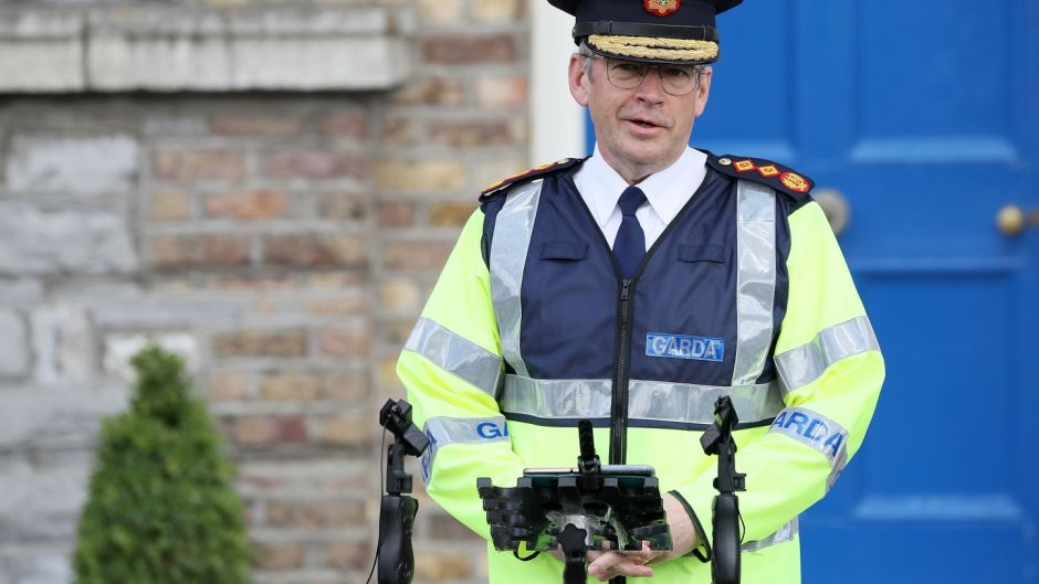 Garda Commissioner Drew Harris during a press conference outside Garda Headquarters in Dublin. Photograph: Brian Lawless/PA Wire