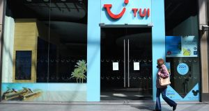 Tour operator Tui said all trips would be cancelled up to and including June 11th. Photograph: Andy Rain/EPA