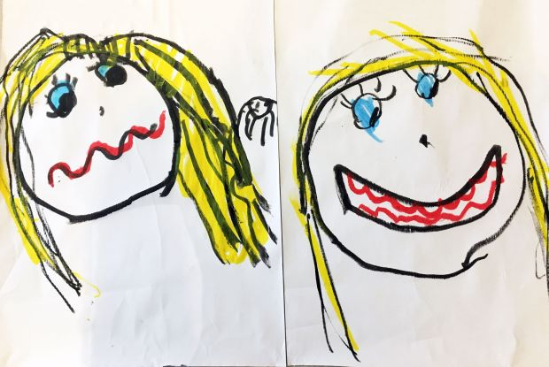 Éabha Meade, aged 7.'How I feel now, and how I will feel when the Coronavirus is over.'