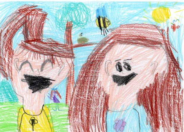 Aoibhinn Donlon, aged 6.'This is a picture of myself and my friend Juliette. I have not seen Juliette in a long time as we don't go the same school. She was my friend in Montessori. She is French and she is really good fun. I can't wait until she comes to my house for a playdate!'