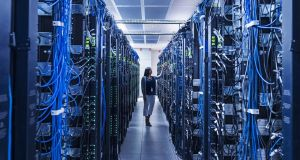 Physical buildings filled with row upon row of servers in air-conditioned rooms make streaming possible and Ireland is home to 55 of these data centres. Photograph: Erik Isakson/Getty Images