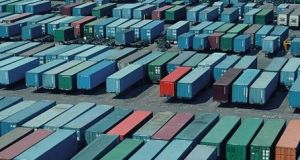 New export orders contracted at a survey record pace, with the decline sharper than that recorded for total new orders. Photograph: Getty Images