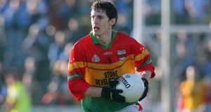 Ray Walker: the Carlow footballer decided not to appeal his four-year suspension for a doping offence. Photograph: Donall Farmer/Inpho