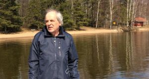 Dubliner Eamonn Cronnolly on a walk around Lake Immala in Finland: 'I came here with only a cabin bag'.