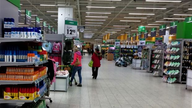 'The huge size of the supermarkets means there is no issue enough with social distancing'.