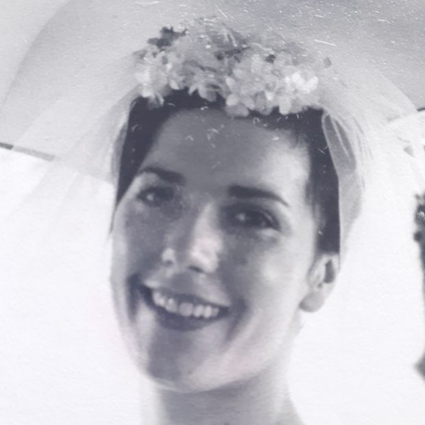 A striking Florence Wylie on her wedding day. Florence Wylie pictured on her wedding day: she opened a drapery shop in Castleblaney, Co Monaghan, in 1964