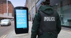 PSNI said they were aware of footage that had emerged on social media over the weekend. Photograph: Stephen Davison/PSNI/PA Wire