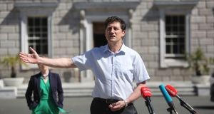 Green Party leader Eamon Ryan at Leinster House. The history of electoral retribution for minority parties in Irish coalitions is hardly inspiring. Photograph: Gareth Chaney/Collins