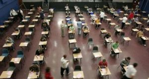 The Department of Education has confirmed that 'complex' issues relating to contingency plans for the Leaving Cert are being examined by officials. File photograph: Frank Miller/The Irish Times.