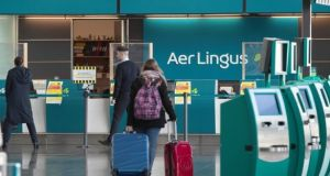 Aer Lingus said it had conducted a review of the route. Photograph: Colin Keegan/Collins Dublin
