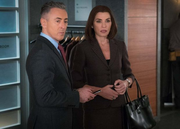 Cumming as Eli Gold in The Good Wife, opposite his friend Julianna Margulies as Alicia Florrick. Photograph: CBS Photo Archive/Getty