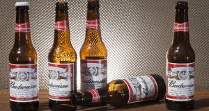 Revenue from Budweiser, Stella Artois and Corona dropped 11 per cent in the first quarter. Photograph: iStock