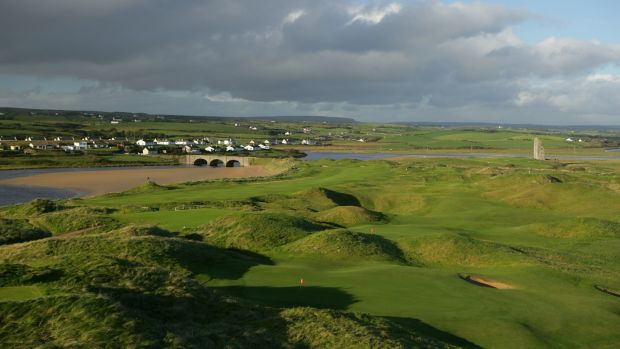 The Old Course at Lahinch Golf Club, Co Clare. Two-thirds of Vaughan Lodge's guests are American golfers. File photograph: David Cannon/Getty Images