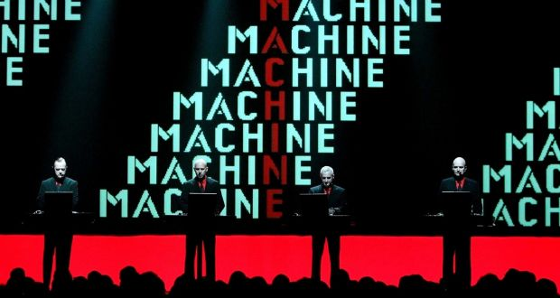 Kraftwerk on stage in 2004, with Florian Schneider on the right. File photograph: Juerg Mueller/Keystone via AP