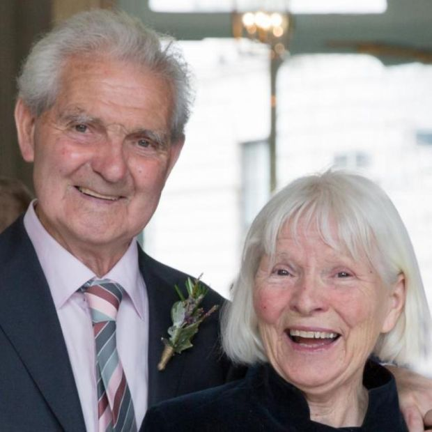 Marie Keown with her husband, Eamonn: the couple celebrated their 40th wedding anniversary with family in Rome