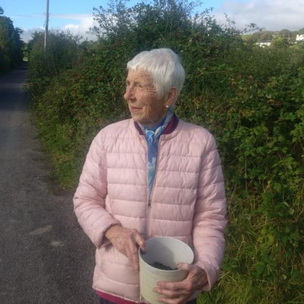 Betty Hart: every autumn she picked blackberries, and many locals enjoyed her pots of jam over the years