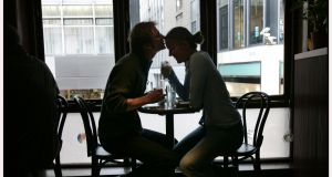A  romantic encounter between customers from Germany in 2005. Photograph: Matt Kavanagh
