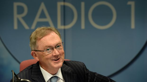 Sean O'Rourke at the Radio Centre in RTÉ on his first day presenting Today with Sean O'Rourke on September 2nd, 2013. Photograph: Frank Miller