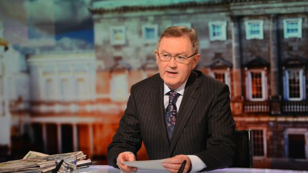Sean O'Rourke on the set of The Week in Politics on RTÉ One in January 2013. Photograph: Eric Luke