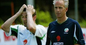 Roy Keane was sent home by manager Mick McCarthy from the 2002 World Cup. Photograph: Inpho
