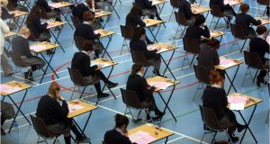 Unable to decide whether the Leaving Cert should take place or whether results should be determined by in-school assessments, the Government appears to have chosen both options. Photograph: Dara Mac Donaill