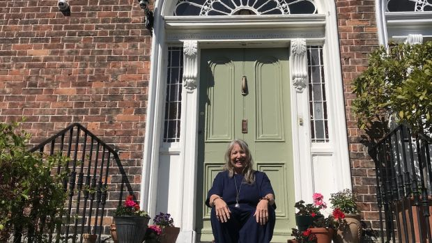 Mary Moloney outside her house on Wellington Road, Dublin