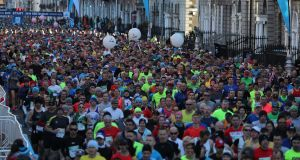 Last year's race saw a record number of 22,500 runners. Photo: Nick Bradshaw/The Irish Times